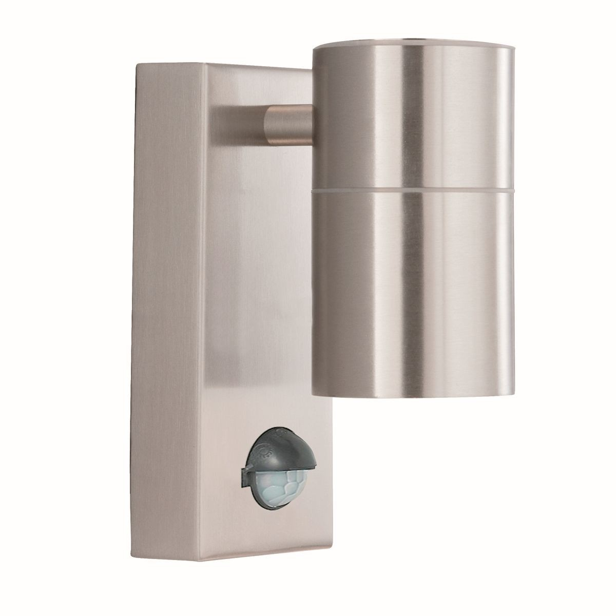 Satin Silver Outdoor Wall Light Motion Sensor