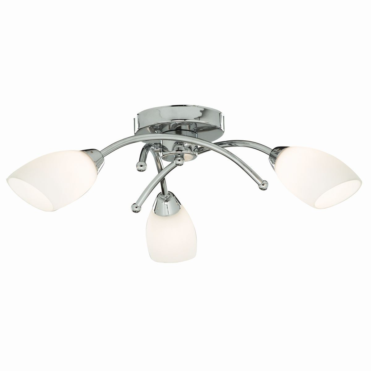 Opera ceiling light chrome flush 3 light aloadofball Choice Image