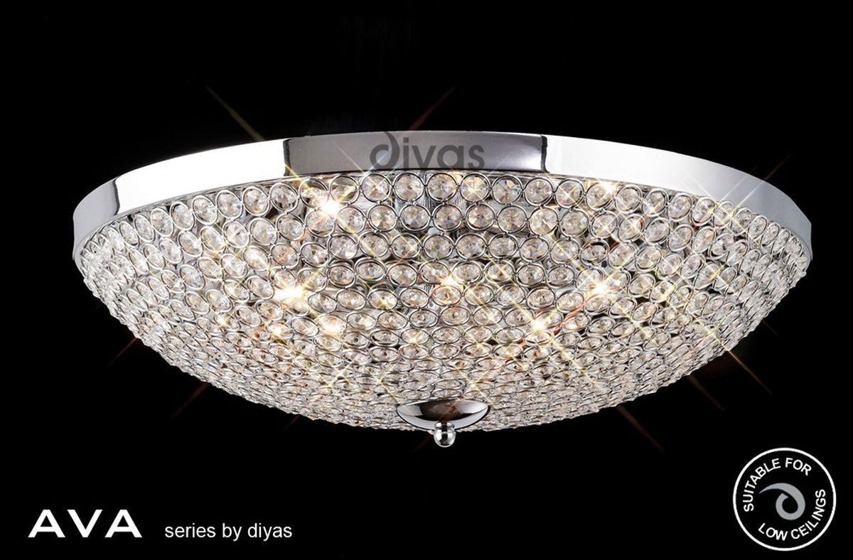 Ava Bathroom Pendant Light: Diyas Ava Ceiling 6 Light Polished Chrome/Crystal
