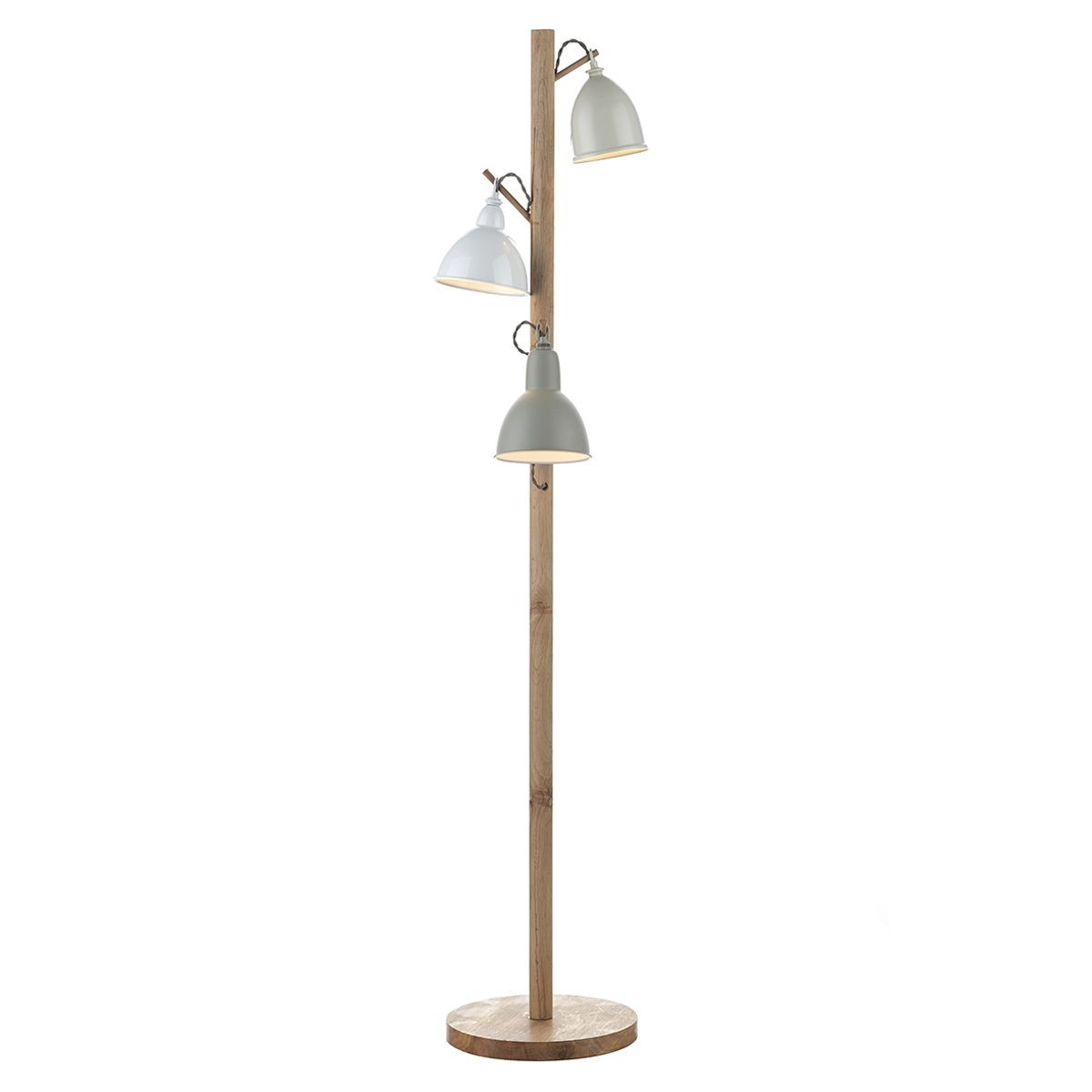 Blyton floor lamp 3 light complete with shades for Mantra 5 light floor lamp