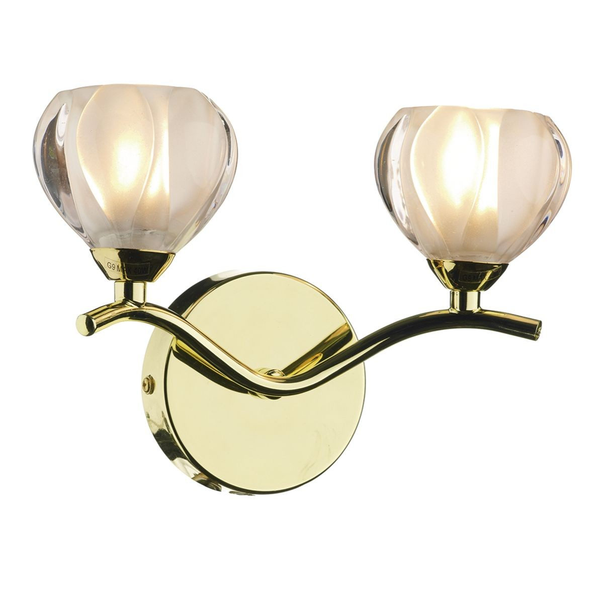 Polished Brass Wall Lamps : Cynthia Wall Light - Polished Brass