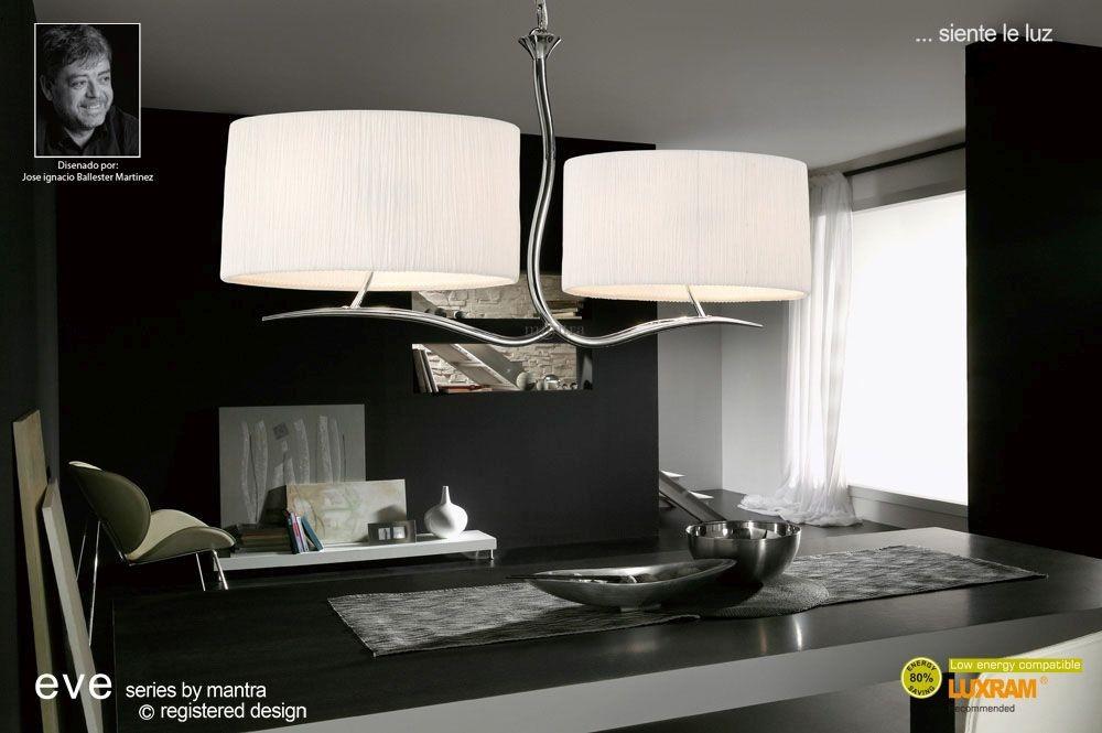 Progress Lighting Riverside Collection 4 Light Heirloom: Eve Pendant 4 Light Polished Chrome With White Shade