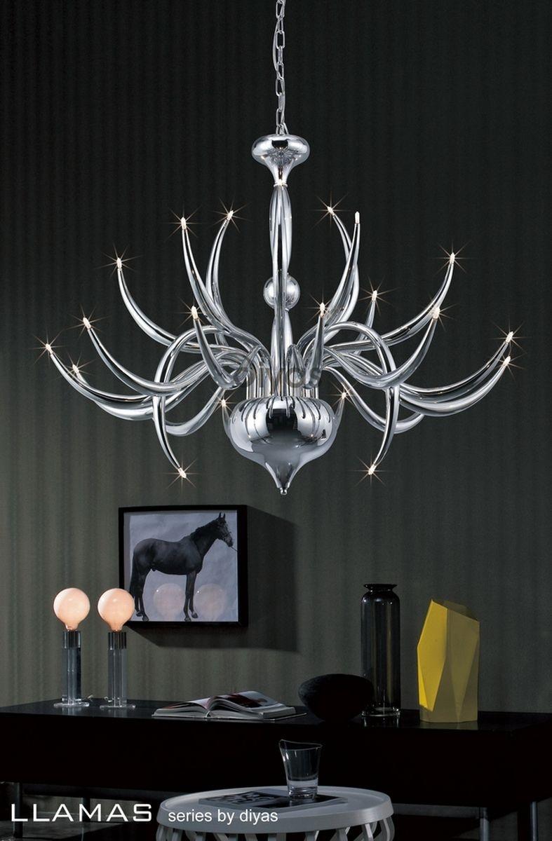 Diyas Llamas 24 Light Chandelier W.T.Lighting   Chrome