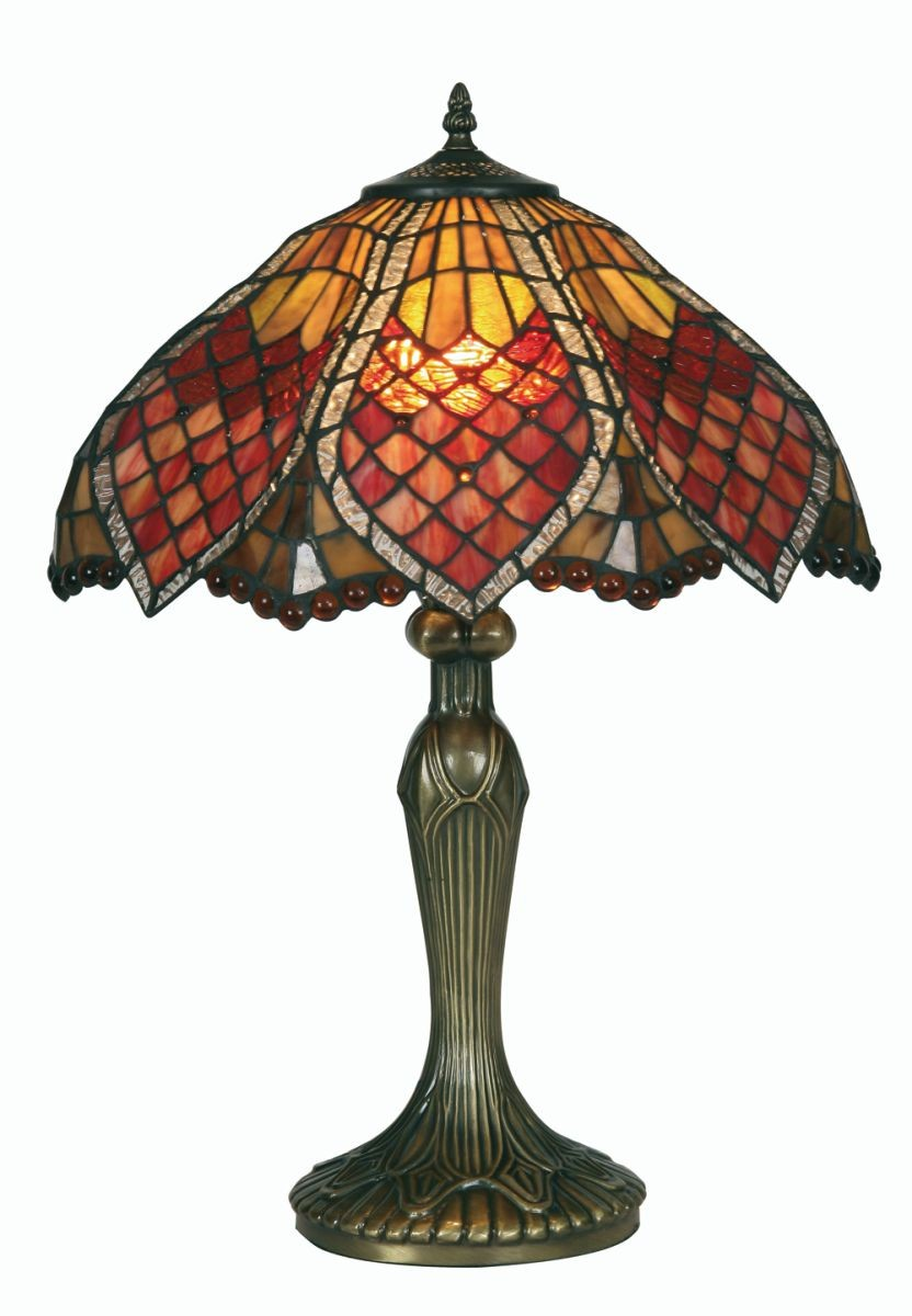 Orsino tiffany table lamp large for Miss k table lamp closeout special