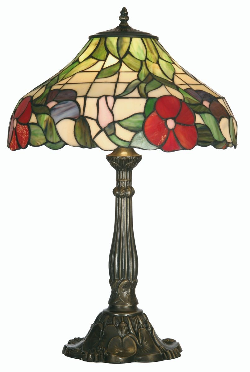 peonies tiffany table lamp large. Black Bedroom Furniture Sets. Home Design Ideas