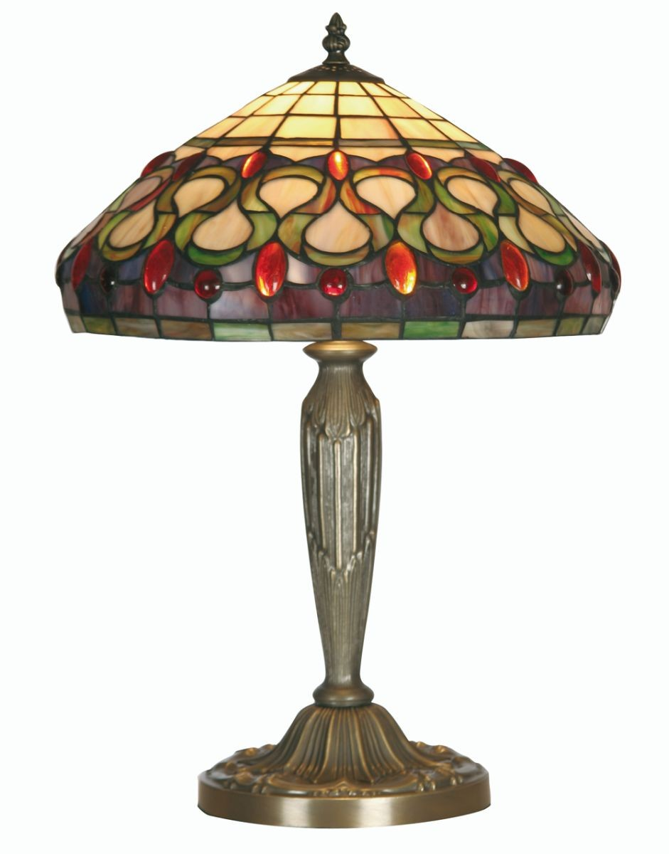 oberon tiffany table lamp large. Black Bedroom Furniture Sets. Home Design Ideas