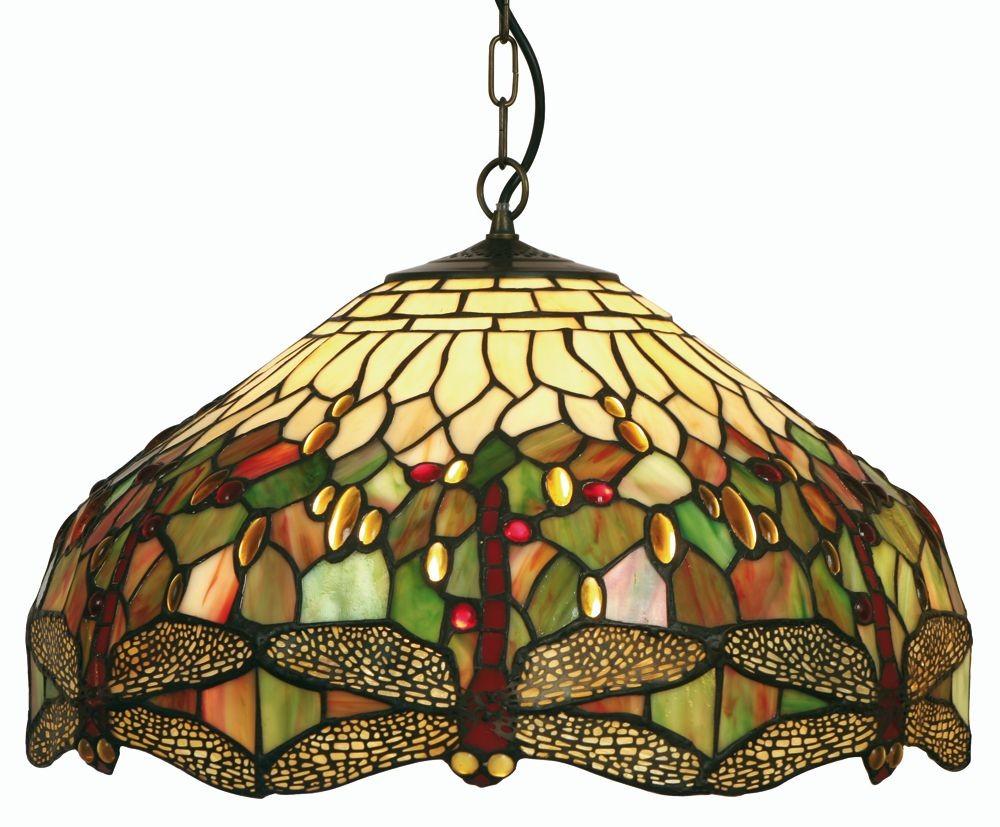 Dragonfly tiffany ceiling light large pendant aloadofball Choice Image