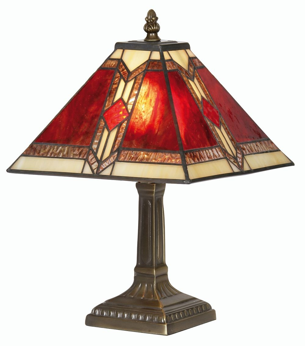 Aztec Tiffany Table Lamp Small