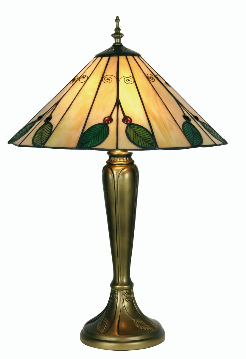 Leaf Tiffany Table Lamp Large
