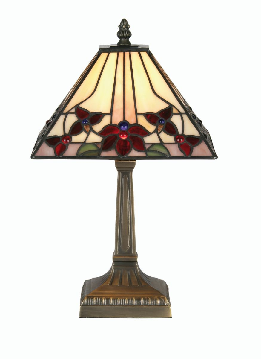 Camillo tiffany table lamp for Table lamps under 50