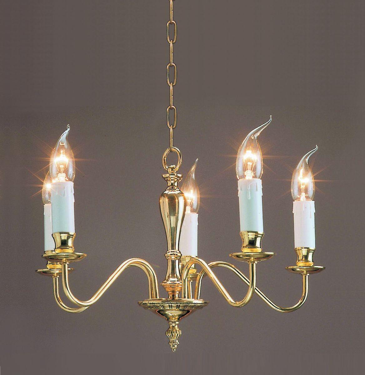 Georgian Chandelier: Impex Georgian Chandelier Polished Brass