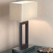 Dark Wood Table Lamp