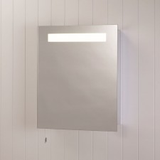 Astro Lighting Modena Illuminated Mirror Cabinet - 1 Light, Brushed Aluminium