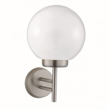 Globe Outdoor Wall Light - Stainless Steel/Polycarb Globe