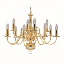 Flemish Ceiling Light - 12 Arm Chandelier