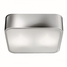 Flush Chrome 2 Light Square Fitting 25Cm