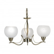 Luanda Ceiling Light - 3 Light, Antique Brass