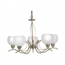 Luanda Ceiling Light - 5 Light, Antique Brass