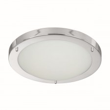 Flush Bathroom Light - IP44 Opal Glass