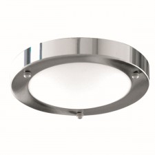 Flush Bathroom Light - IP44 Marble Glass
