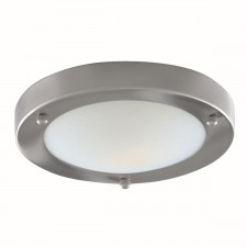 Flush Bathroom Light - Marble Glass IP44