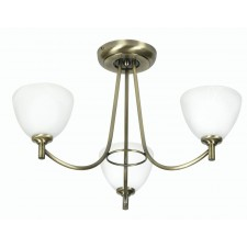 Hamburg Decorative Ceiling Light - 3 Light, Antique Brass