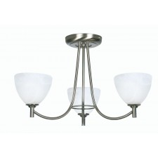 Hamburg Decorative Ceiling Light - 3 Light, Antique Chrome