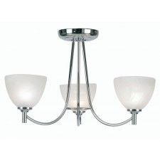 Hamburg Decorative Ceiling Light - 3 Light, Chrome