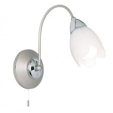 Petal Wall Light - Satin Chrome (Switched)