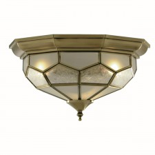 Flush Ceiling Light - Honeycomb Brass