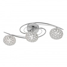 Eva Semi Flush Ceiling Light - 3 Light, Chrome