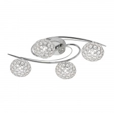 Eva Semi Flush Ceiling Light - 4 Light, Chrome