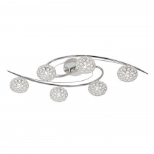 Eva Semi Flush Ceiling Light - 6 Light, Chrome