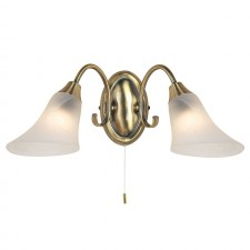 Frosted Opal Glass Wall Light - Antique