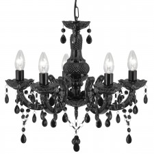 Marie Therese Ceiling Light - 5 Light, Black