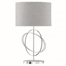 Ring Contemporary Table Lamp - Chrome Complete with Shade