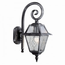 Genoa Outdoor Light - Silver/Black & Glass