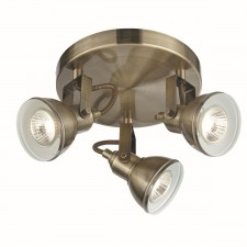 Focus Spotlight Plate - Antique Brass, 3 Spot