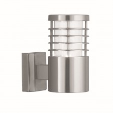 IP44 Outdoor Light - Wall Bracket- Satin Silver