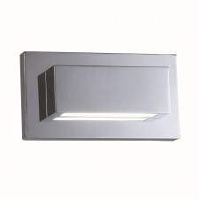 LED Modern Wall Light - Chrome with Polycarbonate Lens