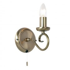 Traditional Wall Light - Antique (Switched)