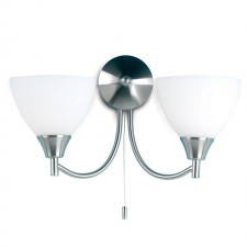 Dynasty Wall Light - Satin Chrome (Switched)