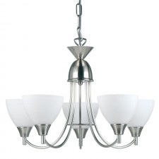 Dynasty Ceiling Light - 5 Light Satin Chrome