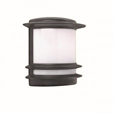 IP44 Outdoor Bollard Post Lamp - Black Wall Light
