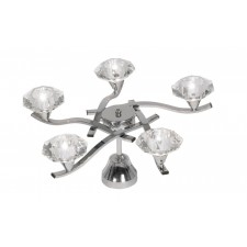 Quaid 5 Light Ceiling Light - Chrome
