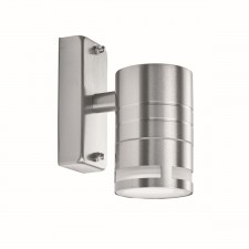 Outdoor & Porch 1 Light Cylinder Downlight Wall Bracket - Stainless Steel