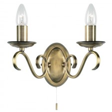 Tied Wall Light - Antique Brass (Switched)