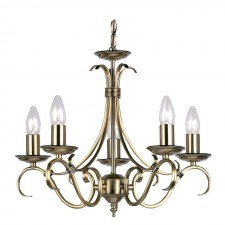 Tied Ceiling Light - 5 Light Antique Brass