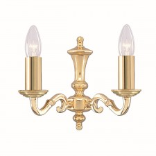 Seville Wall Light - Dual Light Solid Brass