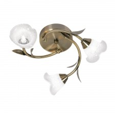 Carac Decorative Ceiling Light - 3 Light, Antique Brass